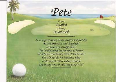 Personalized First Name Meaning for Golfer-Golf Art Background Great Gift
