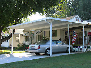20 X 24 Wall Attached Aluminum Carport Kit 019 Patio