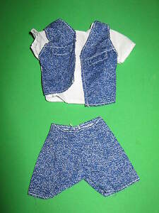 KEN-FASHION-WHITE-BLUE-DENIM-LOOK-SHORTS-SET-BARBIE