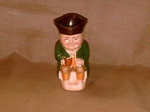 Vintage-Wood-Sons-England-Small-Character-Toby-Jug-4-Toby-3-1-2-Tall-Nice