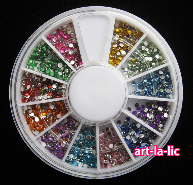 New Nail Art Rhinestones Glitters Acrylic Tips Decoration Manicure Wheel