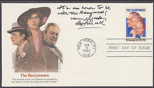 Lee-Purcell-Actress-signed-amp-inscribed-1982-Barrymores-FDC