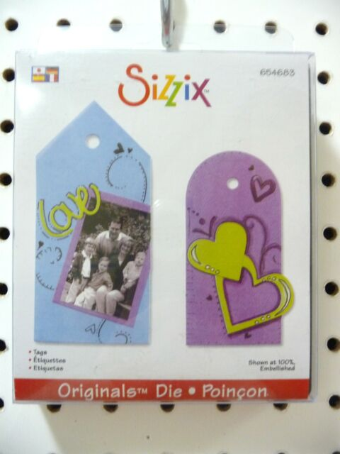 Sizzix Originals Dies Cards Frames Shapes Phrases Tags