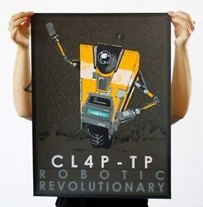 Brand-New-Borderlands-2-Claptrap-CL4P-TP-Limited-Poster-Print-Gearbox-Software