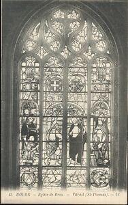 01-cpa-BOURG-Eglise-de-Brou-Vitrail-St-Thomas