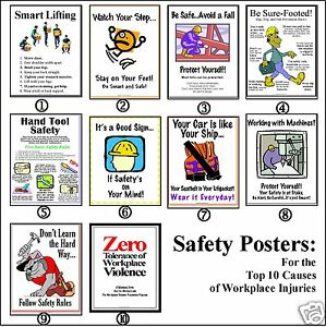 Safety Posters Top 10 Workplace Injury Prevention