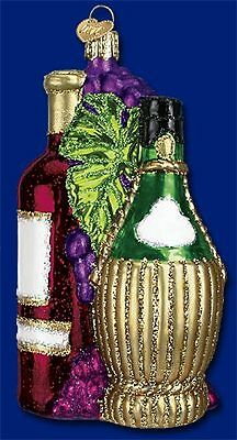 Wine Ornament Glass Fruits Of The Vine Old World Christmas 32144 6