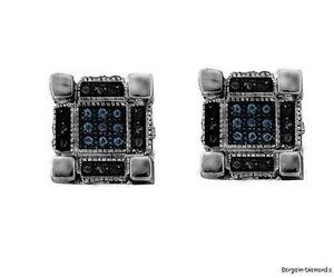 Black-Diamond-ice-out-gunmetal-black-cube-stud-screwback-earrings-28-ct-unisex