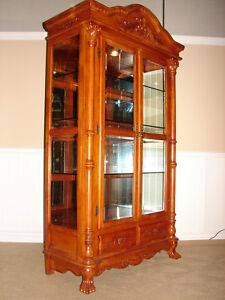 antique mahogany curio cabinet mahogany curio cabinet ornate china closet antique 4113