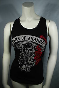 NEW-FOR-2012-SONS-OF-ANARCHY-ROSE-REAPER-SOA-BIKER-TANK-TOP-GIRLS-JUNIORS-S