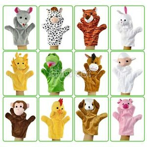 12PCS-Kid-Plush-Velour-Hand-Puppets-Chinese-Zodiac-Farm-Animals-Zoo-Learning-Aid
