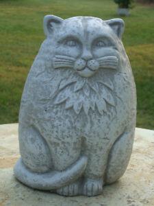 Art Deco Cast Stone Cat Concrete Cement Lawn Garden