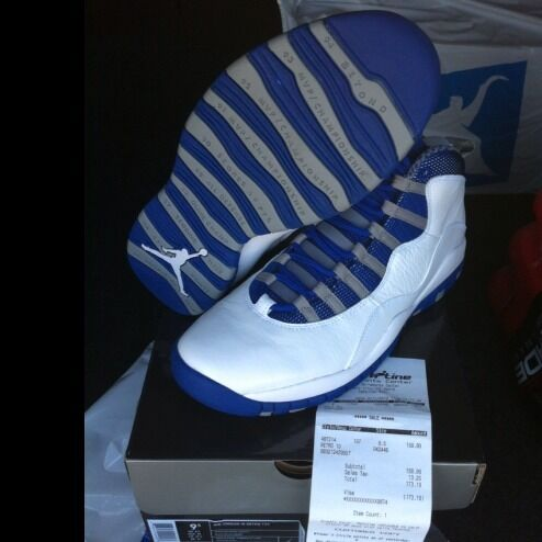 Nike Air Jordan Retro X 10 Retro Old Royal, OVO, Paris, Flu, Size 9.5
