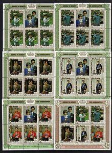 PENRHYN 1981 ROYAL WEDDING SET OF 5 SOUVENIR SHEETS & THE MINIATURE SHEET S/CHAG