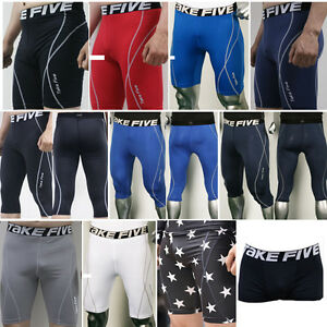 New-Mens-COMPRESSION-Base-Layer-Shorts-Pants-tight-under-skin-sports-gear