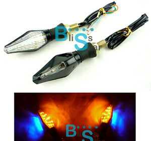 universal led turn signals blinker amber yamaha yzf r125. Black Bedroom Furniture Sets. Home Design Ideas