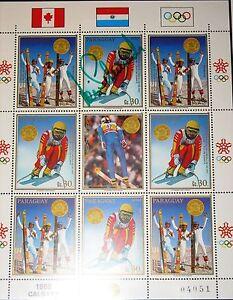 Paraugay-1988-KLB-4266-c748-Olympics-Calgary-slalom-skiing-Veri-Schneider-Signat