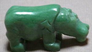 ANTIQUE-CHINESE-HAND-CARVED-GREEN-JADE-HIPPO-FIGURE