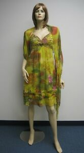 Sue-Wong-Dress-Shawl-6-Evening-Cocktail-Gown-Beaded-7-Lime-Green-Roses-NEW