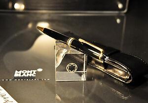 Montblanc-Meisterstuck-164-BLACK-amp-Gold-BallPoint-Pen-MINT