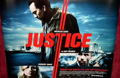 Cinema Poster: JUSTICE 2011 (Quad) Nicolas Cage January Jones Guy Pearce
