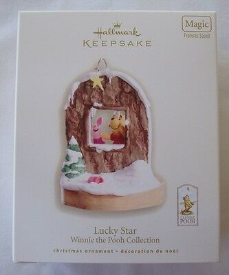 Hallmark 2008 Lucky Star Winnie The Pooh Classic Piglet Magic Christmas Ornament