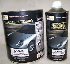 Details about Autobahn AP8036 Hot Rod Black Super Fill Urethane Primer FAST  Gallon Kit
