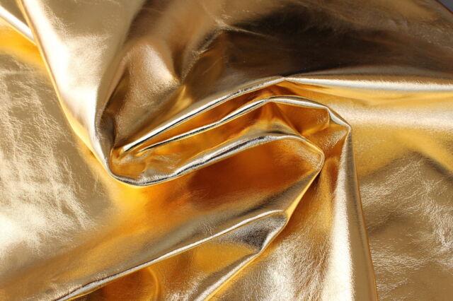 Italian Lambskin leather hide skin pelt skins hides METALLIC GOLD 8+sqf