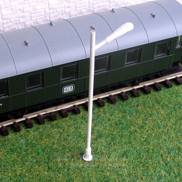 10 x HO scale Lamps Model Train Lamp posts Railroad Scenery Street Lights #043
