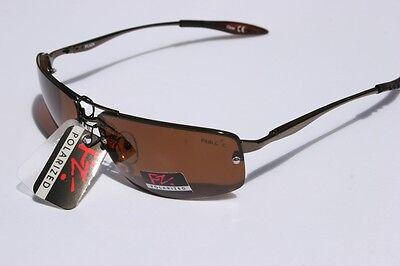 Pablo Zanetti Polarized Sunglasses Rimless Fishing BASS Brown 1.1mm
