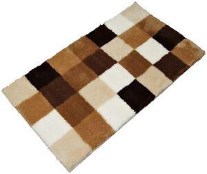 Badteppich-Kleine-Wolke-CARO-Karo-Toffee-creme-beige-braun-60x105cm