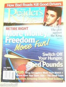 Readers-Digest-Magazine-2003-Plot-Against-Elvis-cover-Nice-SEE