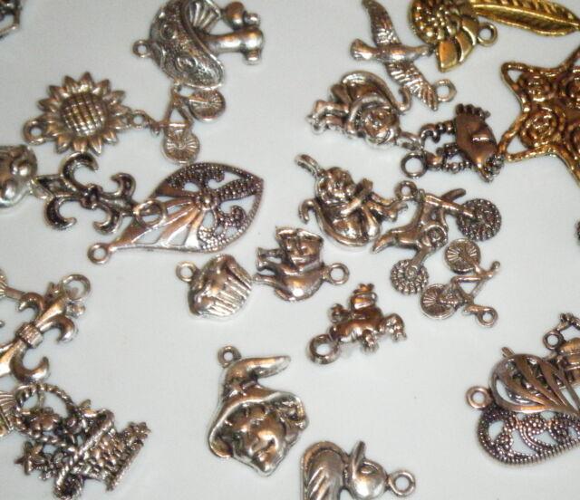 mixed Silver tone Tibetan CHARMS Destash Jewellery Making Supplies