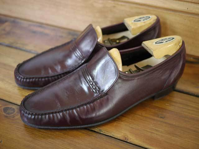 Vintage 60s FLORSHEIM Royal Imperial Moccasin Leather LOAFERS 10.5 B 44.5