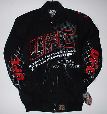 Size 2XL UFC Ultimate Fighting Championship Cotton Jacket  JH Design Black XXL