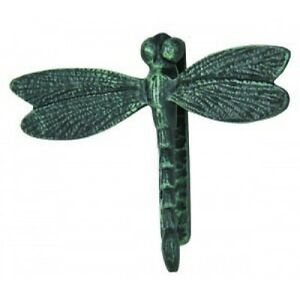 Large iron dragonfly doorknocker door knocker metal door knockers verdigris ebay - Dragonfly door knockers ...