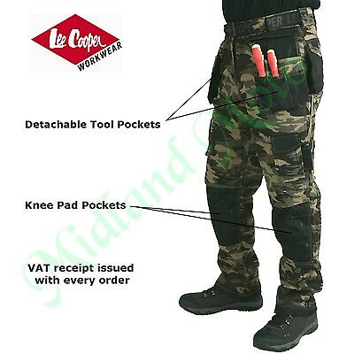 Lee Cooper Combat / Camouflage Work Trousers With Knee Pad Pockets LCPNT210-G/C