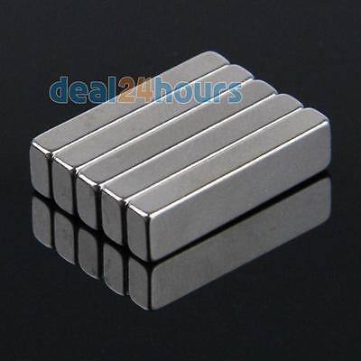 N35 5pcs Super Strong Block Cuboid Magnets Rare Earth Neodymium 20 x 5 x 3mm