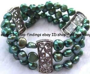 beautiful-7-8mm-green-freshwater-pearl-bracelet