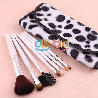 7 PCS Professional Makeup Brush Cosmetic Brushes Set With Case EBAU