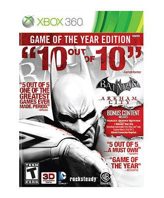 Batman: Arkham City Game of the Year Edition  (Xbox 360, 2012)