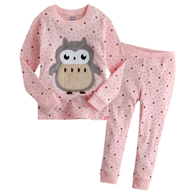 "NWT Vaenait Baby Toddler Kids Unisex In Door Sleepwear Pajama Set ""Lovely Owlet"""