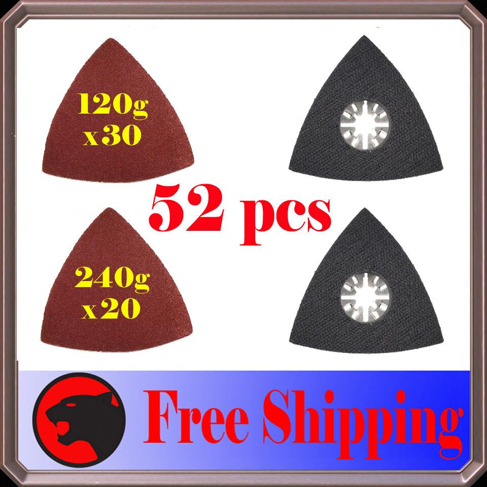 Oscillating Tool Triangular Finger Sanding Disc /& Paper Kit for Multimaster Fein