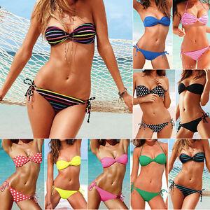 Sexy-New-Womens-Bathing-Swim-Suit-Beach-Swim-Wear-Bandeau-Hipkini-Bikini-Tankini