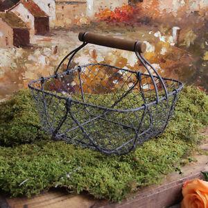 Vintage-Style-Wire-Shabby-Garden-Chic-Basket-Home-Decor