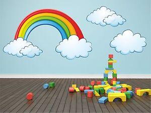 Rainbow-amp-Clouds-Kids-Children-Room-Wall-Sticker-art-vinyl-Decal-Graphic-kr39