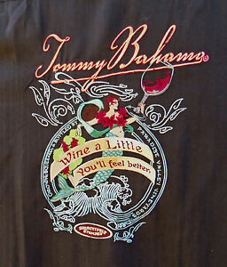 NWT-TOMMY-BAHAMA-MENS-sz-2XL-EMBROIDERED-034-WINE-A-LITTLE-034-SILK-SHIRT-54-034-CHEST