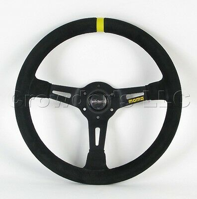 MOMO Steering Wheel Mod 08 Black Suede Leather 350mm