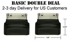 Dock-Extender-30-pin-Adapter-BLACK-Basic-Double-Deal-for-iPod-iPhone-iPad2