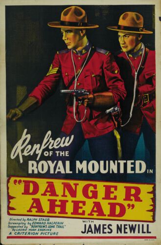 Dave O/'Brien Western Cult movie poster print 1940 Danger Ahead